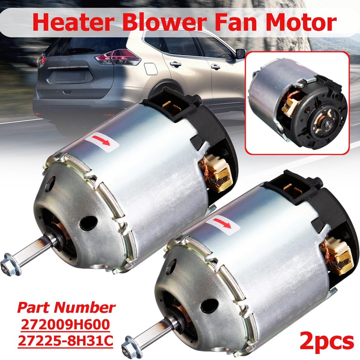 Right Hand And Left Hand Driver Side Climate Car Heater Blower Fan Motor For Nissan X-Trail Maxima Navara 272258H31C 272009H600