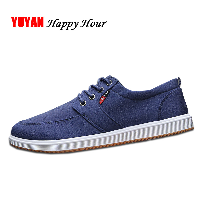Canvas Shoes for Men Casual Brand Footwear Male Cloth Shoes Breathable Men's Sneakers Low top Flat Black Blue KA020 hot sale 2016 top quality brand shoes for men fashion casual shoes teenagers flat walking shoes high top canvas shoes zatapos