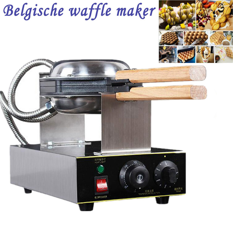Фотография Wholesale And Retail 110v 220v Hong Kong Egg Waffle Maker Stainless Steel Bubble Waffle Machine Egg Puffs