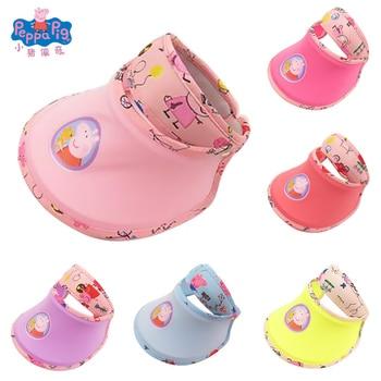 Peppa Pig Cap Sun Cool Summer Baseball Cap Cotton Summer Big Hollow Top Hat Sun Visor Movie Anime Surrounding Stuffed Toys