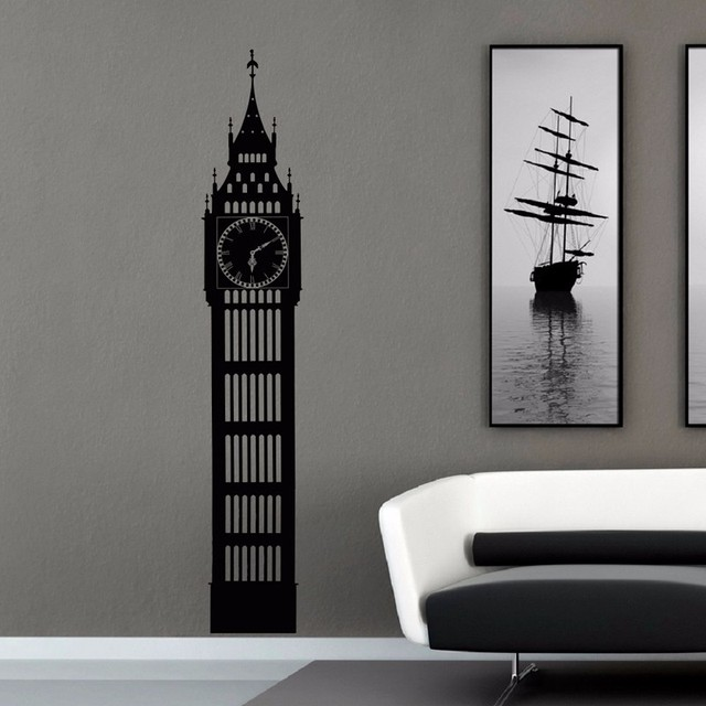 Big Ben Wall Decal London Skyline Silhouette Decals Murals City