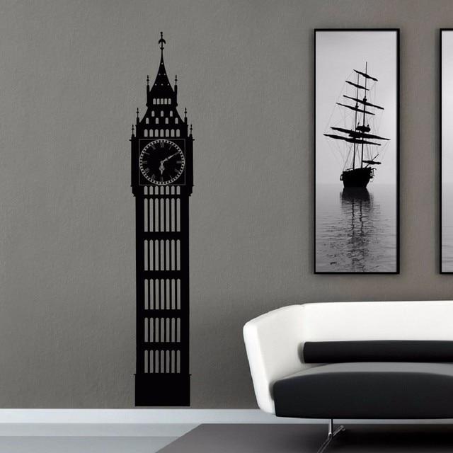 Big Ben Wall Decal London Skyline Silhouette Decals Murals City - Wall decals murals