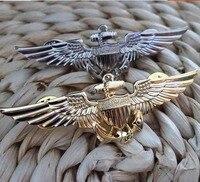 La United States Marine corps emblema Oro volo dell'aviazione e silver Sea anchor meritano di agire il ruolo di 7 x2. 5 cm