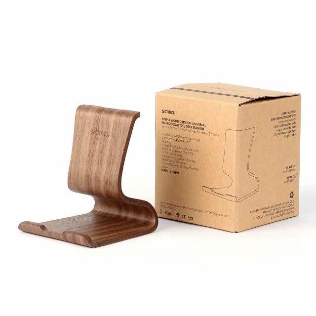 Деревянный бамбука универсальный смартфон подставка-держатель планшета стоит легкий для тонкого мобильного телефона Подставка для iPhone Xs Max XR X для iPad