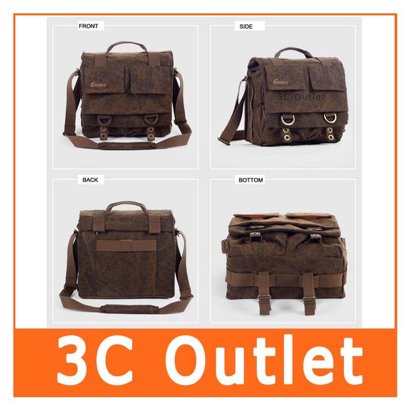 ФОТО Eirmai Leisure Canvas Messenger Camera Bag Single Shoulder Bag Handbag DSLR Camera Bag , Large Size