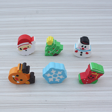 Kawaii Christmas gift cartoon eraser 8pcs / set, pencil eraser cute school stationery children christmas present