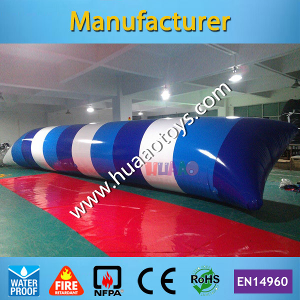 Free Shipping 12*2m 0.9mm Water Pillow Water Blob Jump Inflatable Water Blob for Sale Any Color You Want free shipping 6 2m 0 9mm pvc inflatable trampoline water pillo water blob jump inflatable jumping jump bed on water