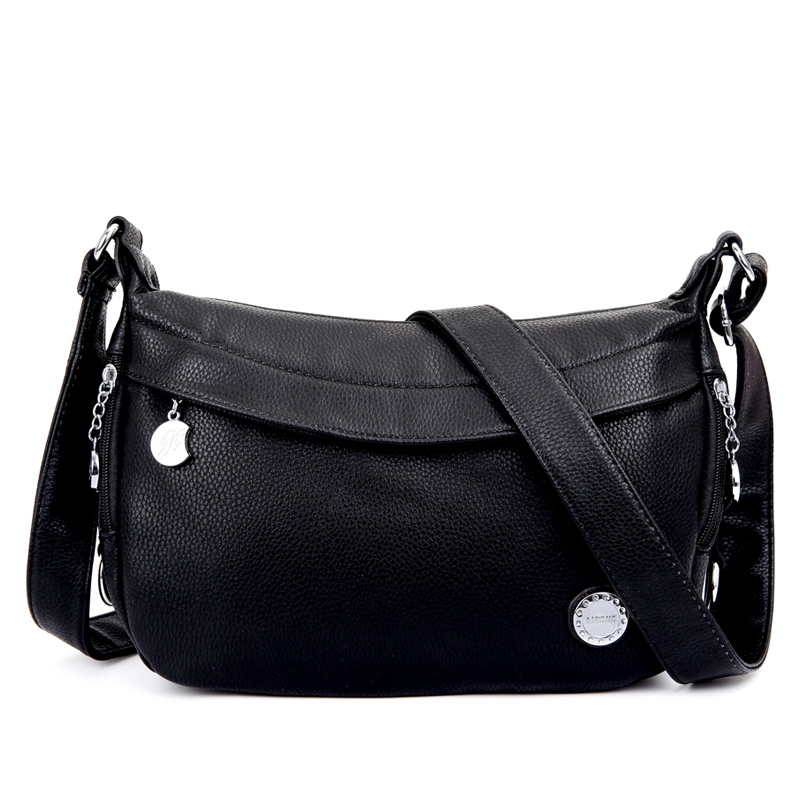 ФОТО Free Shipping Genuine Leather Women Handbags Women's Shoulder Bags Crossbody Women Messenger Bags Ladies Travel Bolsas Femininas