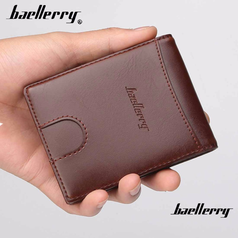 цены Baellerry PU Leather Men Wallets Zipper Coin Pocket Sample Solid Male Purse Card Holder High Quality Man Purse cartera
