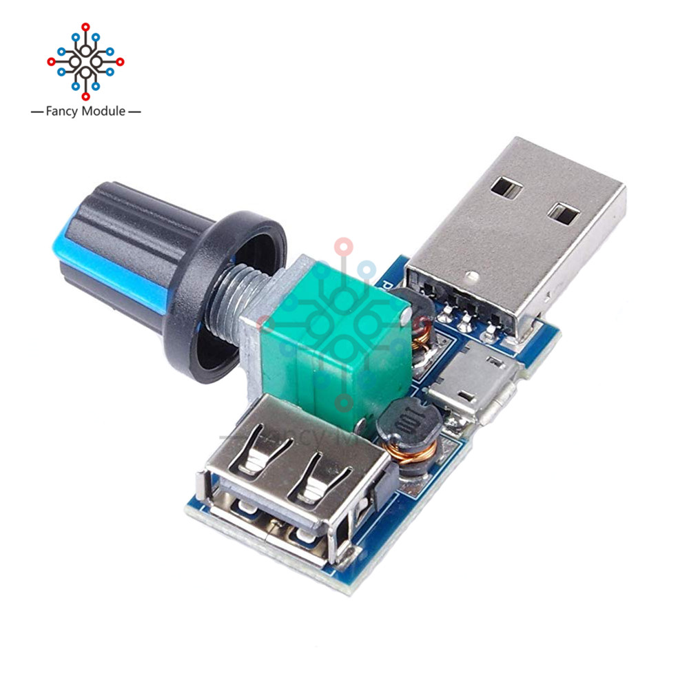 DC 5V Micro USB Fan Governor Wind Speed Controller Air Volume Regulator Cooling Mute Multifunction Noise Reduction Switch Module