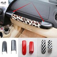 2 шт./лот, автомобильная наклейка из углеродного волокна, АБС-пластик, для пассажирской боковой панели, ручка, декоративная крышка для 2003-2012 Volkswagen VW Beetle