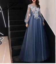 Dress 2019 new long banquet slim long sleeve dress