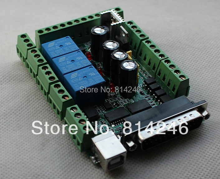 Free shipping,Interface Board MACH3 Interface Board DIY CNC 6-axis Breakout Board PWM spindle casio ltp 1280psg 7a casio