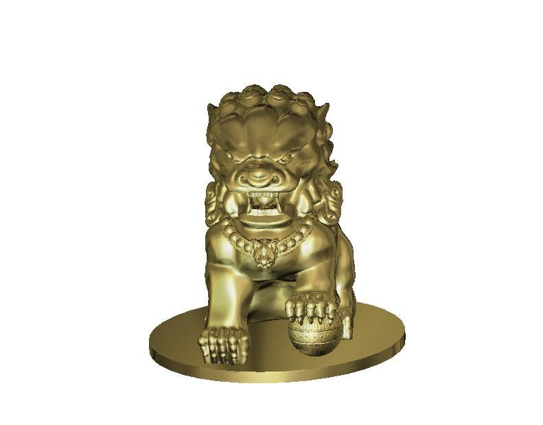 L1 3d Lions Relief Sculpture Model CNC Router Milling Engrave STL File