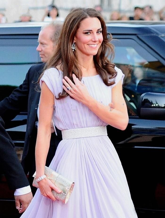 Exquisite Chiffon Kate Middleton Prom Kleider Abendkleid Für Gala ...