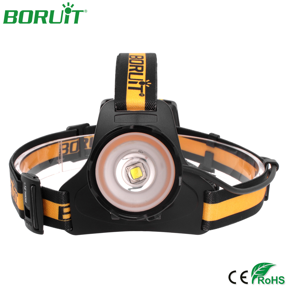 цены на BORUiT 1000lm XML L2 LED Headlamp Flashlight Zoomable Head Torch Light Portable Waterproof Camping Hunting Headlight Lanterna в интернет-магазинах