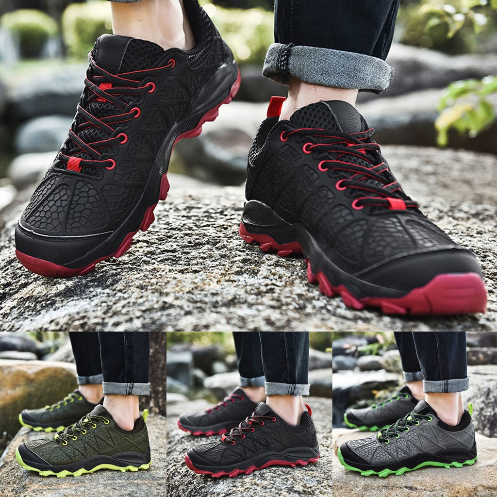 Men Outdoor Sports Shoes Mesh Fashion Hiking Shoes Breathable Men Shoes