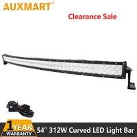 Auxmart 55 дюймов 520 Вт 5D светодиодный чипы светодиодный свет бар изогнутый Offroad свет бар (спот + Наводнение) комбинированный луч для путешествий