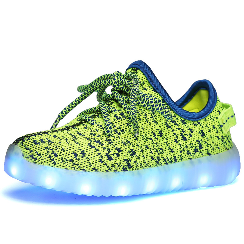 pretty nice db21c 946cc US $25.91 |Kinder leuchten Schuhe 2016 Beiläufiger Breathable Led Schuhe  Kinder zapatillas led Jungen Mädchen Schuhe leucht Turnschuhe Korb USB Lade  ...