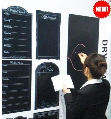 free shipping blackboard sticker creative message DIY chalkboard card lovely stationery memo children gift wall sticker,40*200cm