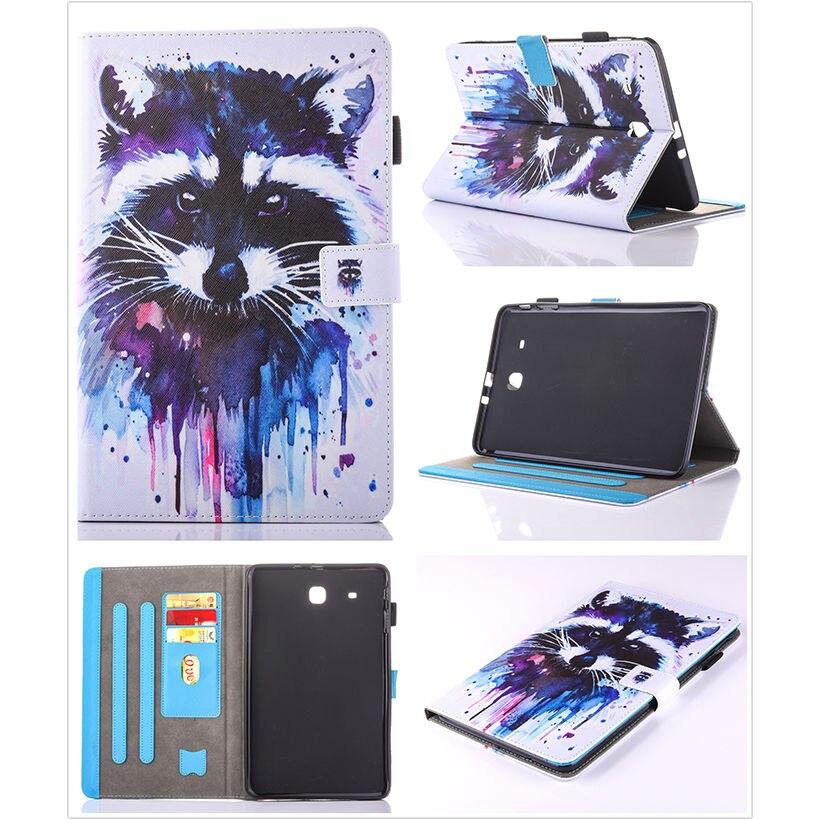 Moda Animal Flip PU cuero sFor Samsung Galaxy Tab E 9.6 para Samsung - Accesorios para tablets - foto 3
