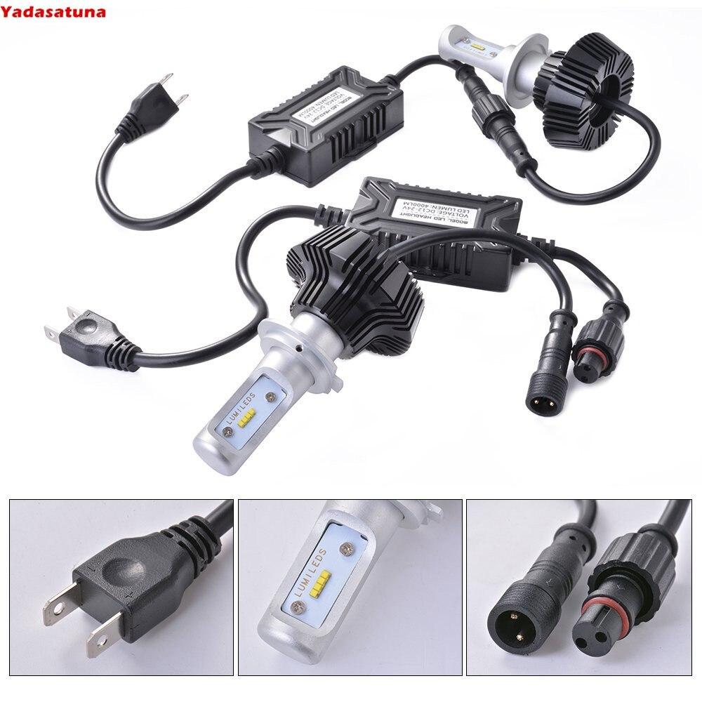 S7 H7 LED Bulb Headlight Low Beam Car Lighting Conversion Kit -50W 8000Lumen 6500K White Brightest Lumileds Chip No Fan Version