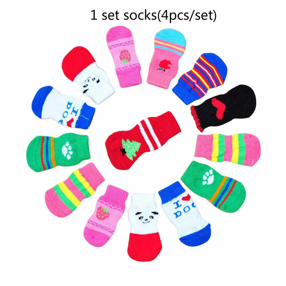 SUEF милые вязаные носки с рисунком кота и собаки милые модные носки для собак 4 нескользящие носки для питомцев из хлопка @ 03