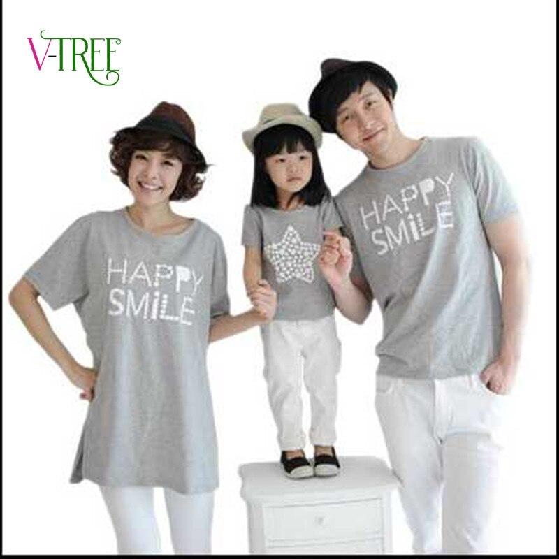 6c7371f04622b71 Новые летние одинаковые комплекты для семьи с коротким рукавом хлопковая  футболка для семьи мать отец топы для малышей футболки для всей семьи  детская ...