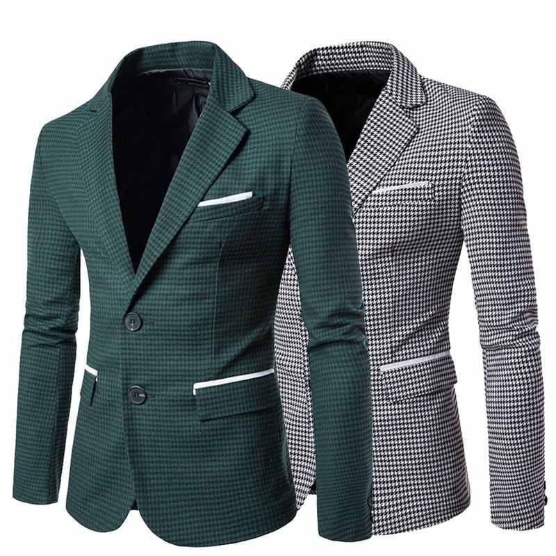 LASPERAL منقوشة طباعة الرجال عادية السترة موضة كم طويل الزفاف معطف على شكل ثوب رسمي Veste زي رجال الأعمال سترة