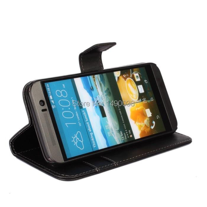 Svart högkvalitativt PU-läderplånbok för HTC One M9 Cover Flip - Reservdelar och tillbehör för mobiltelefoner - Foto 4