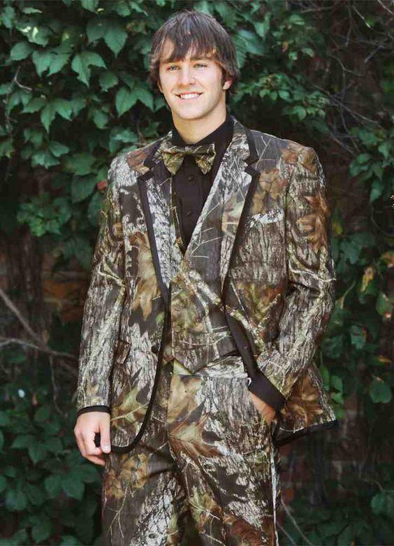 Realtree Camo Wedding Tuxedos Farm Wedding Camouflage Suit Custom Made Slim Fit Mens Blazers Fashion Groom Wear(Jacket+Pant+Vest
