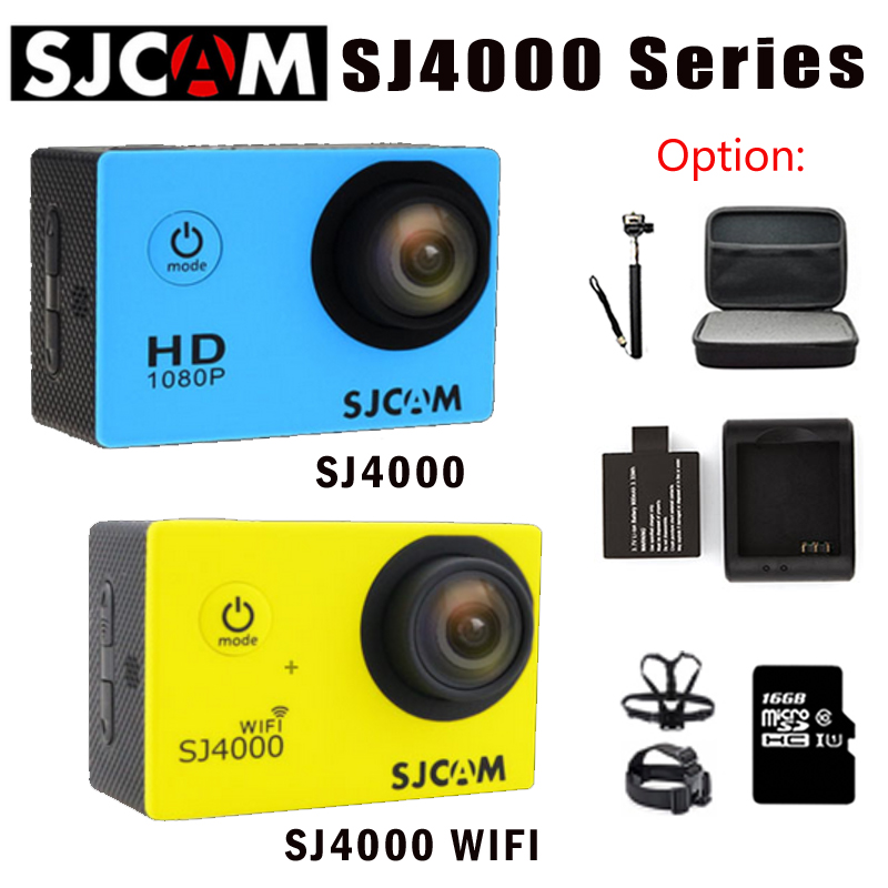 Original SJCAM SJ4000 SJ4000 wifi waterproof Action Camera Diving 30M 1080P Full HD Underwater Sports Cam DV + option Monopod other sjcam wifi sj4000 wifi 1080p hd gopro dv 30 original sjcam wifi version sj4000 wifi 1080p full hd gopro camera