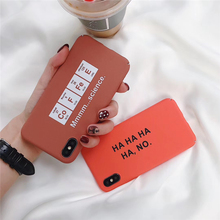 Cartoon Couples Phone Case For iphone X XR XS MAX 6 6S 7 8 Plus thin Hard PC Back Cover Funny Letter Cases Capa
