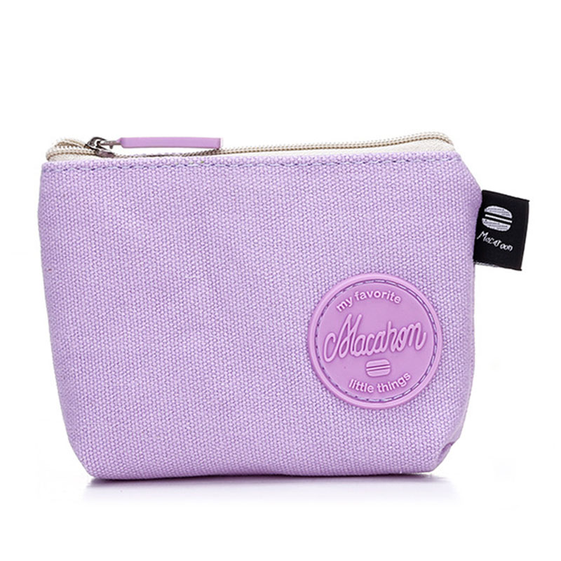 PPYY NEW -High Quality Macarons For Boys And Girls Cute Canvas Large Capacity Stationery Supplies Coin Purse