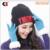 Negro Unisex Slouch Knit Warm Plian Tacto suave de Punto Slouch Beanie Sombrero Del Esquí