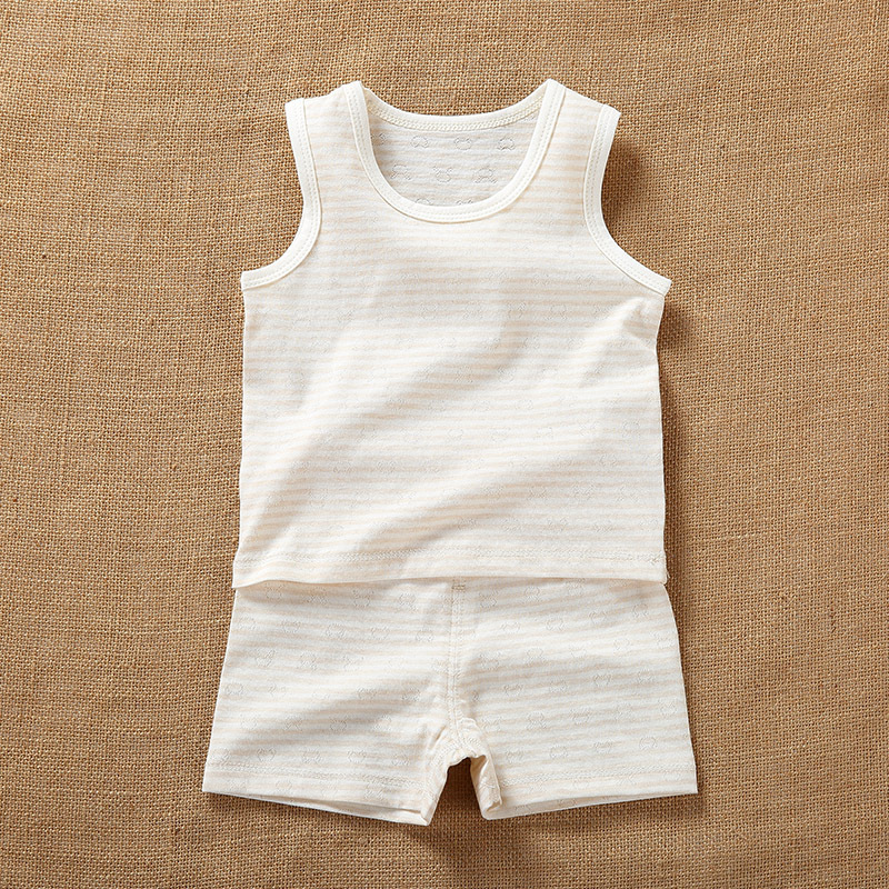 Newborn Baby Boy Girls Summer Organic Cotton Sleeveless Sets Clothes Infant Unisex Baby Casual Tshirt+Shorts Outfits Costume 2pcs ruffles newborn baby clothes 2017 summer princess girls floral dress tops baby bloomers shorts bottom outfits sunsuit 0 24m