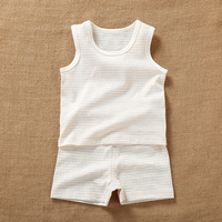 Newborn Baby Boy Girls Summer Organic Cotton Sleeveless Sets Clothes Infant Unisex Baby Casual Tshirt+Shorts Outfits Costume