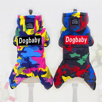 Pet Dog Clothes Camouflage Four Legs Cotton Outfit For Small Dogs Winter Clothes For Small Chihuahua