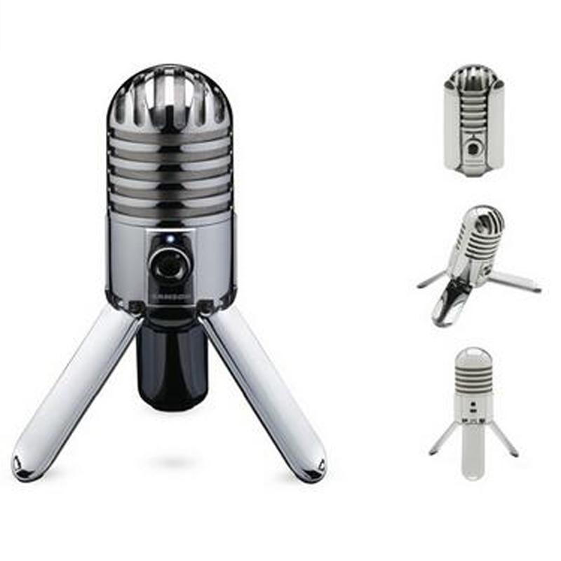 100 Original SAMSON Meteor Mic USB condenser microphone Studio Microphone Cardioid for computer notebook network for