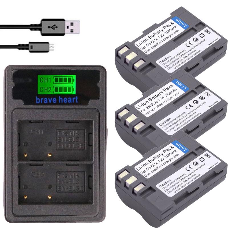 MüHsam Batterie En-el3e En El3e Enel3e El3 En El 3e Batterie Für Nikon D300s D300 D100 D200 D700 D70s D70 D80s D90 D50 L15 Kamera Batterien