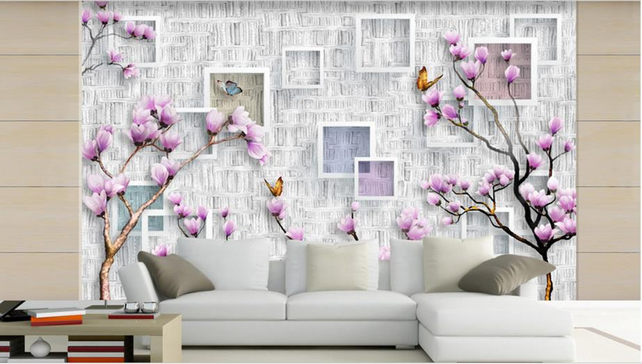 Modern simplicity 3D Photo Wallpaper Stereoscopic Beautiful azalea Chinese style Backdrop 3D Large Wall Mural Wallpaper Painting custom baby wallpaper snow white and the seven dwarfs bedroom for the children s room mural backdrop stereoscopic 3d