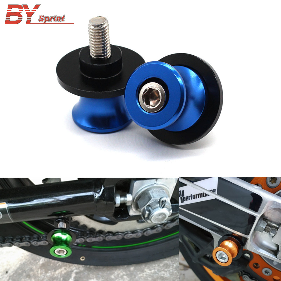 Motorcycle CNC Swingarm Spools Sliders Stand Screws 8MM For Suzuki V-Strom 650 <font><b>1000</b></font> HAYABUSA TL1000R/S SV650/S B-KING 1300 image