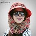 Летний стиль лицо защитный ткань шляпа анти-уф солнце пляж шляпа велоспорт путешествия Hat большие брим WG014192