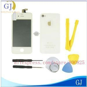 For iPhone 4 Housing, 4G LCD display complete with home button + back glass cover+ tools,Brand New Black/whtie