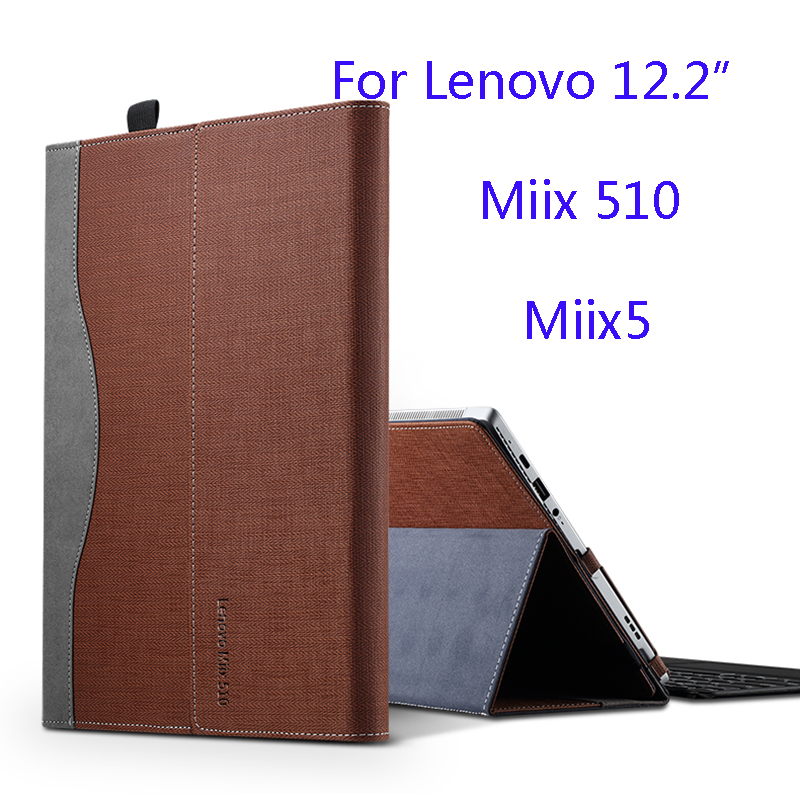 New Creative Design Case For Lenovo Miix 510 Miix5 12.2 Inch Laptop Sleeve Case PU Leather Protective Cover Gift genuine leather case for lenovo miix 5 pro 12 2 inch tablet laptop sleeve creative design for lenovo miix 720 stylus as gift