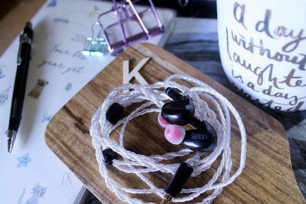 OKCSC 1BA + 1DD dynamique hybride HIFi dans l'oreille écouteurs bricolage moniteur casque 3.5mm prise 0.78mm 2Pin câble pour xiaomi Samsung Huawei - 6