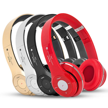Wireless Bluetooth Headphones Portable Headband Headset Stereo Handsfree Built-in Mic Support TF Card/FM Radio For Smartphone