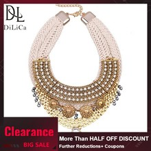 DiLiCa Vintage Statement Pendant Necklace for Women Ethnic Bohemian Metal Geometric Maxi Necklace Charm Choker Necklaces Jewelry(China)