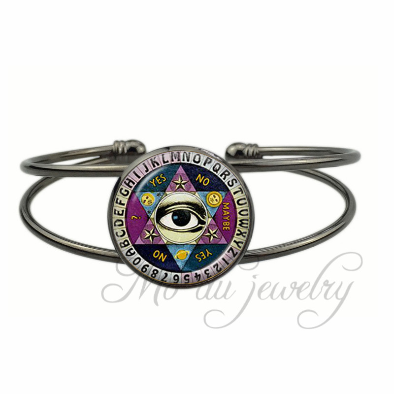 Eye Of Providence Open Cuff Bangle All Seeing Bracelet Third Jewelry Vintage Gl Dome Photo Bangles Women Men In From