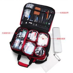 Image 5 - Große Größe Leere Erste Hilfe Tasche Medizinische medizinische Arzt Outdoor Besuchen Tasche Erste Hilfe Notfall Ausrüstung Stoage